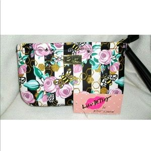 Betsey Johnson |Floral Bees Double Pouch Wristlet